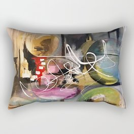 Abstract landscape color bubbles energy memories earth  Rectangular Pillow