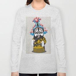 Beijing Opera Character ZhangFei Long Sleeve T-shirt