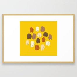 Beautiful Butts Framed Art Print