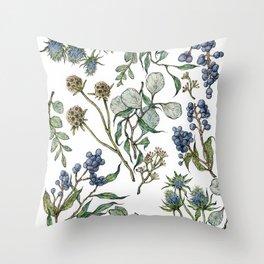 Botanical Layout Throw Pillow