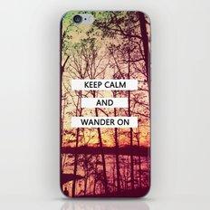 Keep Calm and Wander On iPhone & iPod Skin