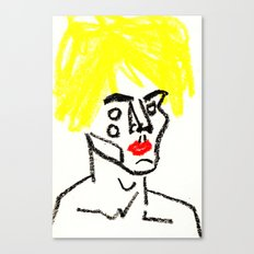 man with yellow hair Canvas Print