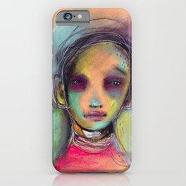 Original Chalk Pastel Illustration by Jenny Manno iPhone Case