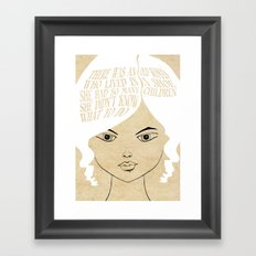 So Many Children - Lessons From Mother Goose Series Framed Art Print