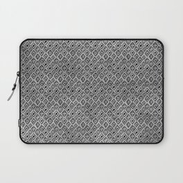 60s - Black abstract pattern on concrete - Mix & Match with Simplicty of life Laptop Sleeve