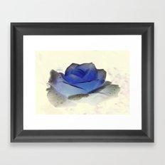 something blue... Framed Art Print