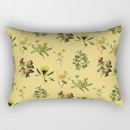 Wild Forest & Field Yellow Flower Herb Pattern Rectangular Pillow
