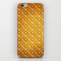 yellow pattern iPhone & iPod Skins featuring Yellow Pattern by Thomas Bryant