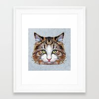 meow Framed Art Prints featuring MEOW by Ancello