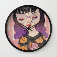 pumpkin Wall Clocks featuring Pumpkin by lOll3