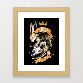 Not your prey Framed Art Print