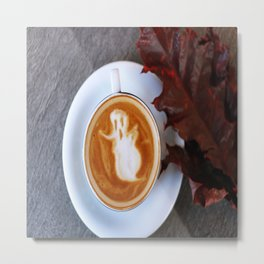 Ghost Latte Metal Print