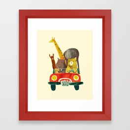 Visit the zoo Framed Art Print