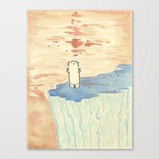 Bear on ice Canvas Print