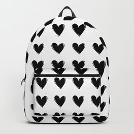 Small Black Hearts Backpack
