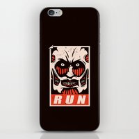 run iPhone & iPod Skins featuring Run by le.duc