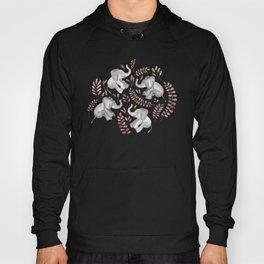 Laughing Baby Elephants - Coral Hoody