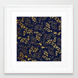 Leaves and Flowers Framed Art Print