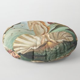 The Birth of Venus by Sandro Botticelli, 1445 Floor Pillow