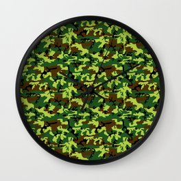camouflage militaire Wall Clock