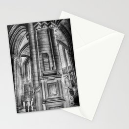 Pulpit in Black and White Stationery Cards