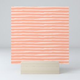 Sweet Life Thin Stripes Peach Coral Pink Mini Art Print