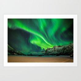Northern Lights - Aurora Borealis_Winter Art Print
