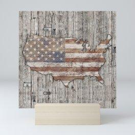 USA Map Life - Square Mini Art Print