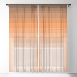Squares In Warm Color Sheer Curtain