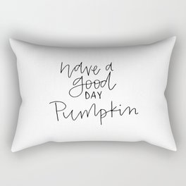 pumpkin thin Rectangular Pillow