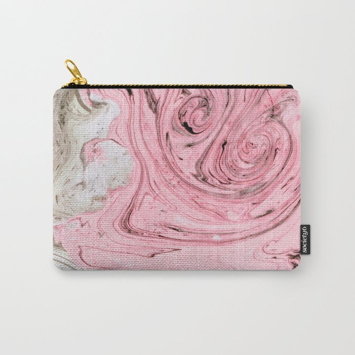 Nude+ Pink Marbling Art #society6 #decor #buyart Carry-All Pouch