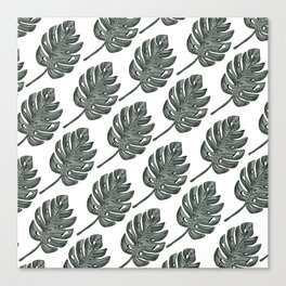 Topical Leaf Vacation Canvas Print