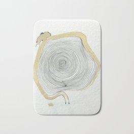 """""""outwards not inwards"""" spiral Bath Mat"""