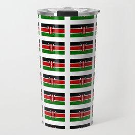 Flag of Kenya -kenyan,kenia,rift valley,serengeti,kilimanjaro,nairobi,mombasa Travel Mug