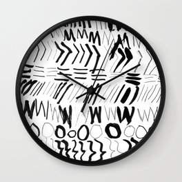 Ink and Charcoal Wall Clock