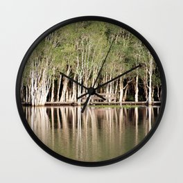 Duck Lake Wall Clock