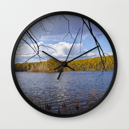 Hall Lake by Yankee Springs in Autumn Wall Clock