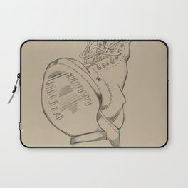 Art Study (the boot) Laptop Sleeve