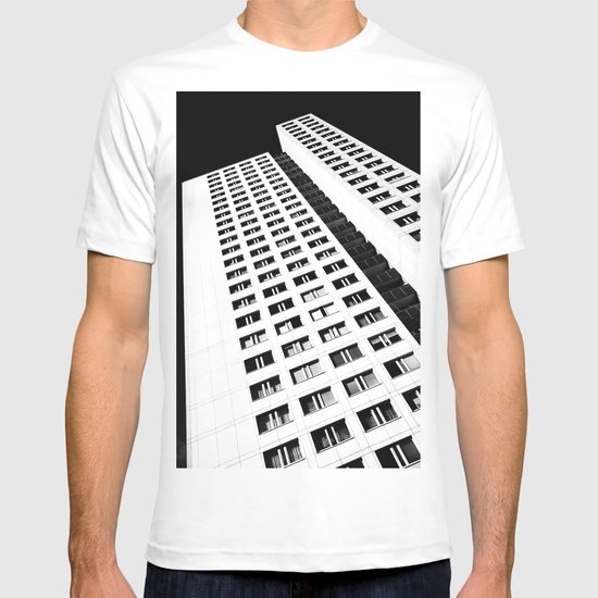 Berlin skyscraper architecture photography in black and white T-shirt