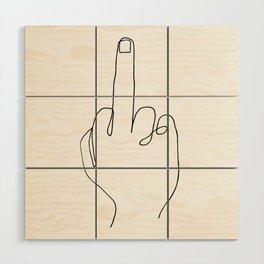 One Line Gesture Wood Wall Art