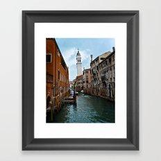 Travel Venice Italy water- ocean - landscape - boat - vintage - photography Framed Art Print