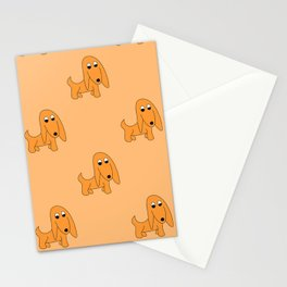 ORANGE PRETTY POOCH Stationery Cards