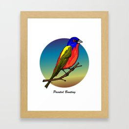 PAINTED BUNTING Framed Art Print