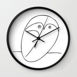 The Owl, Pablo PIcasso sketch drawing, line Design Wall Clock