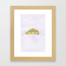 Flexible Tape Measure Watercolor Framed Art Print