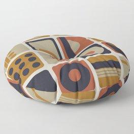 Retro Geometrical Minimalist Squares Floor Pillow