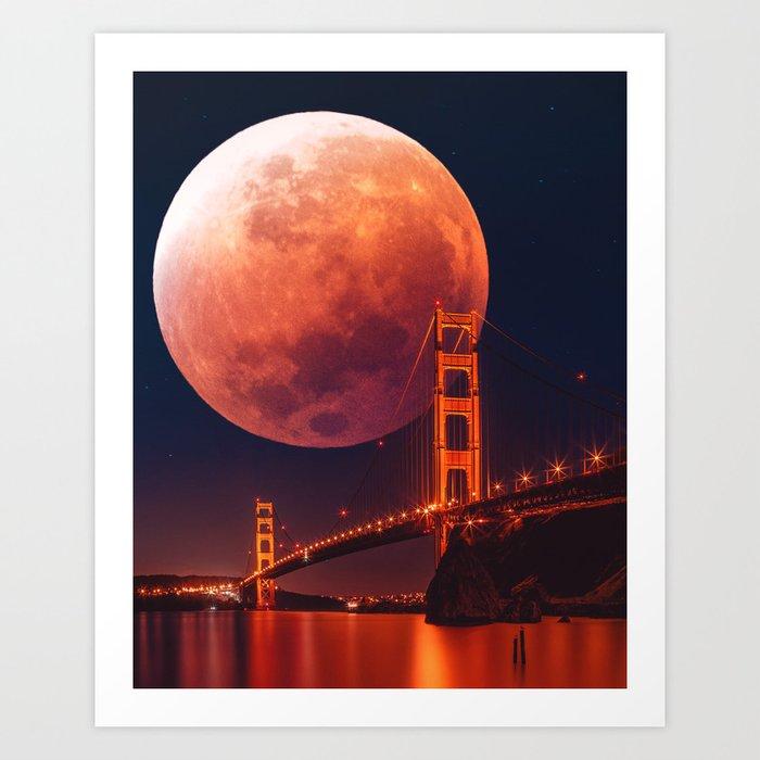 Blood Moon Art Print