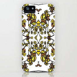 Golden Floral Petals Abstract iPhone Case