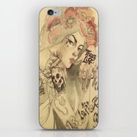 mucha iPhone & iPod Skins featuring mucha cholo by paolo de jesus