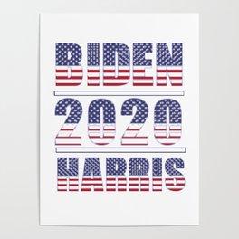 Biden 2020 Harris Flag font Poster